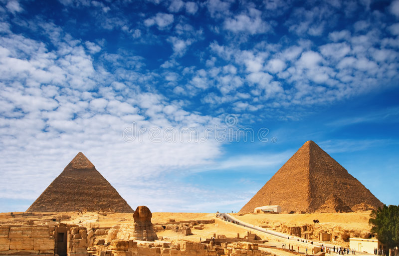 Egyptische piramides stock foto