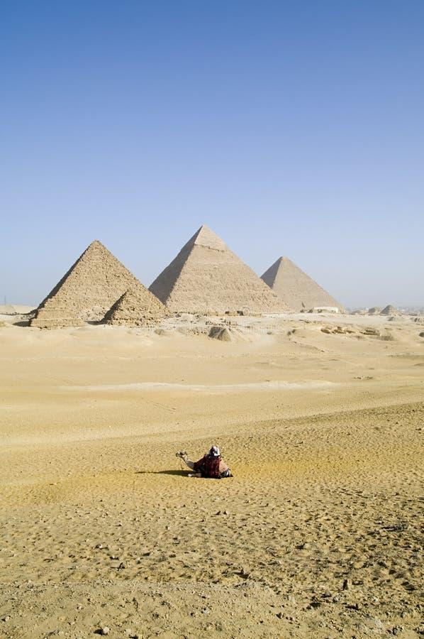 Egyptische Piramides royalty-vrije stock foto