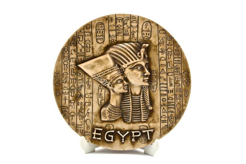 Egyptische plaat stock fotografie