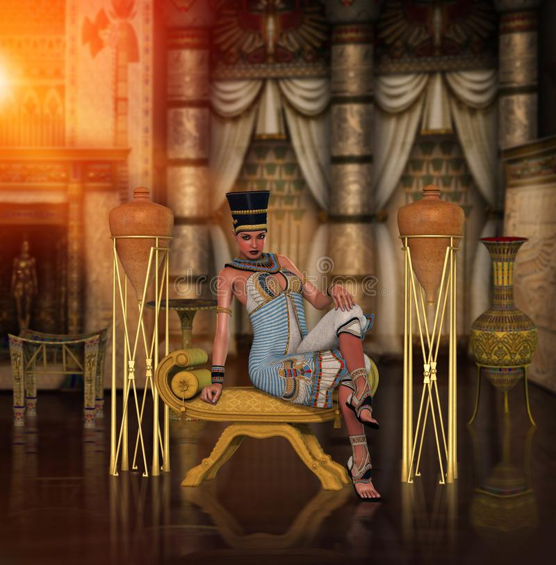 Egyptische Prinses Cleopatra Pharao vector illustratie