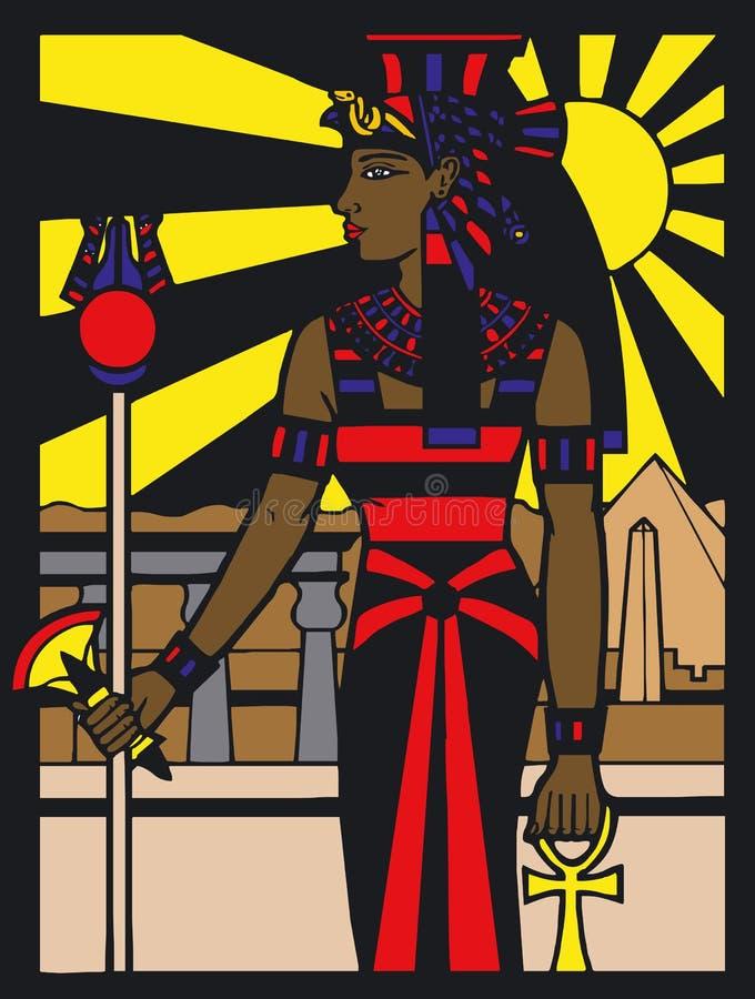 Egyptische Silouette vector illustratie