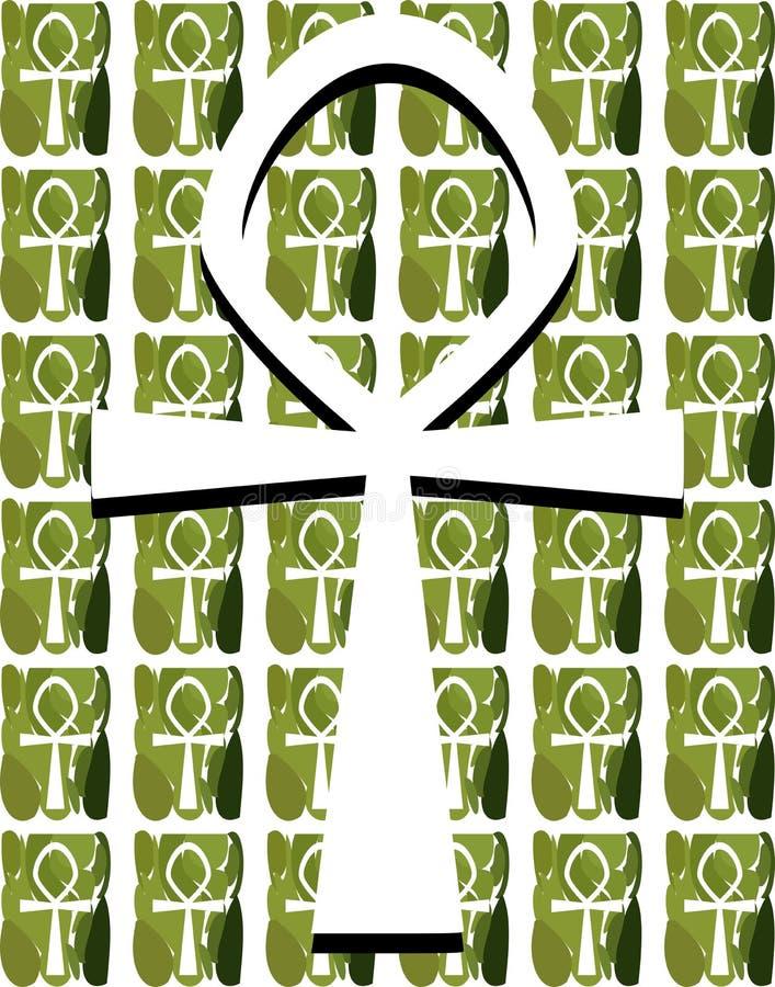 Egyptische Sleutel van het leven op textuur vector illustratie