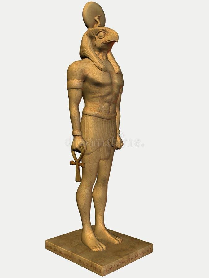 Egyptische standbeeld-Horus-Steen vector illustratie