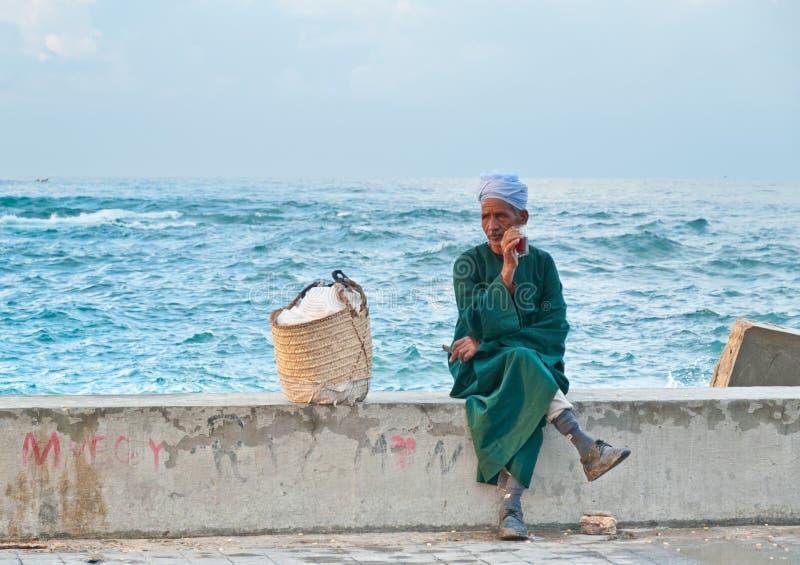 Egyptische straatventer stock fotografie