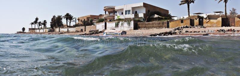 Egyptische strandtoevlucht stock afbeelding