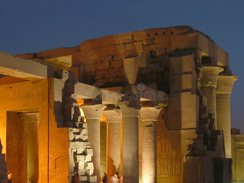 Egyptische tempel stock foto