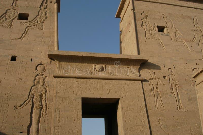 Egyptische Tempel stock foto's
