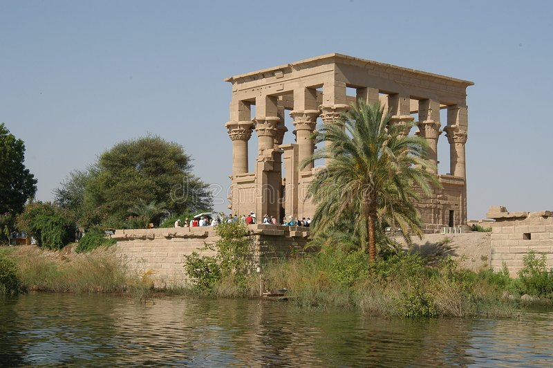 Egyptische tempel royalty-vrije stock foto