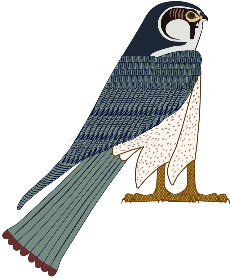 Egyptische Valk stock fotografie