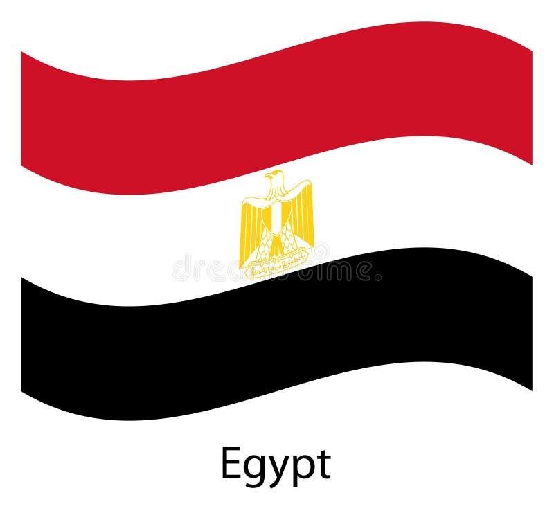 Egyptische vliegende vlag op geïsoleerde achtergrond vector illustratie