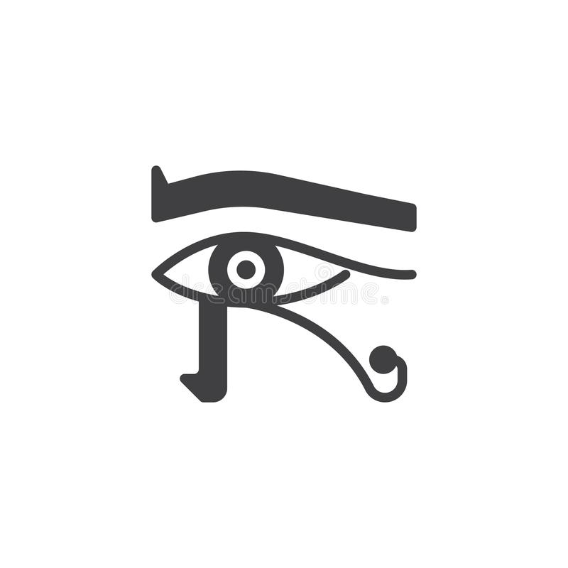 Egyptisk ögonvektorsymbol stock illustrationer