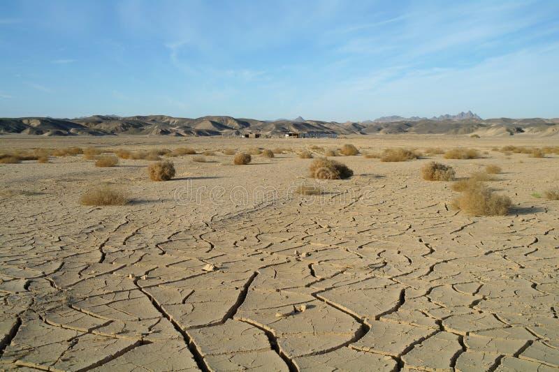 Egyptisk öken och himmel arkivfoton