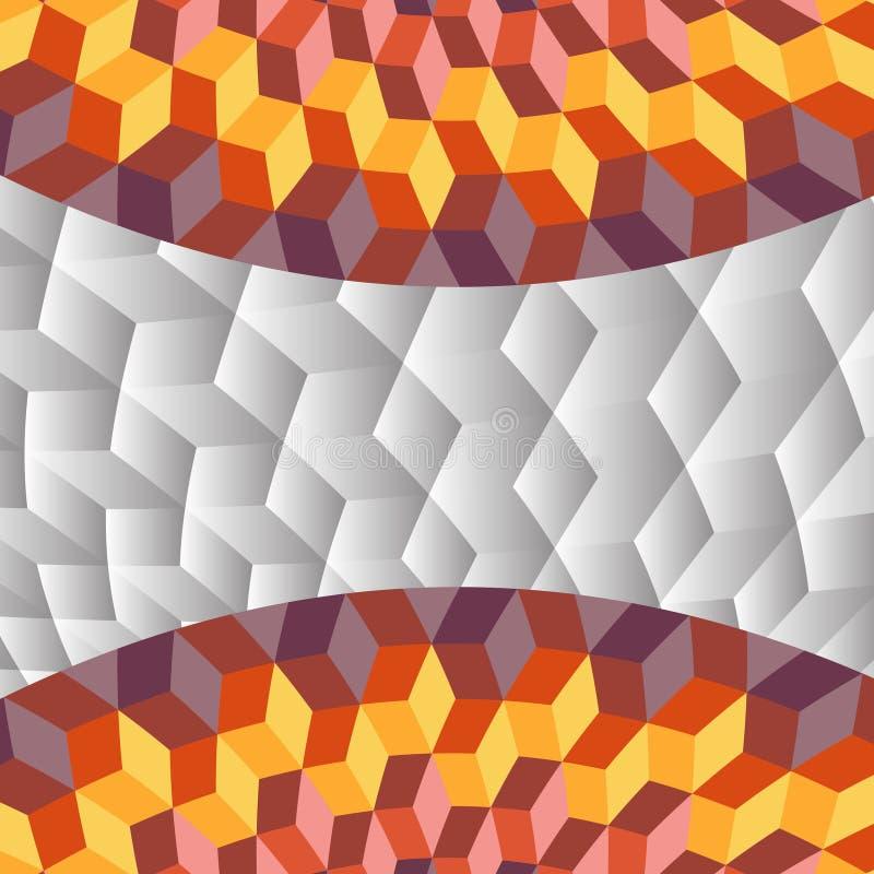Egyptisk blickbakgrund för abstrakta kuber arkivbild