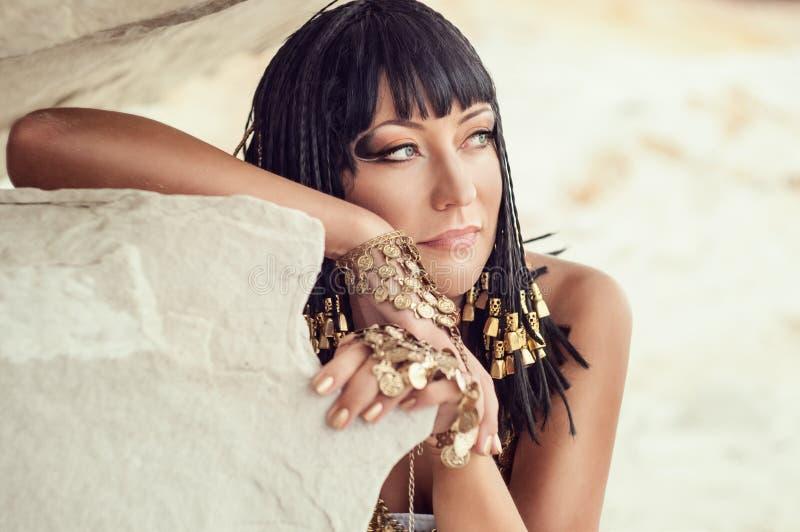 Egyptisk drottning arkivbild
