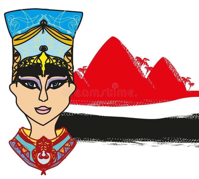 Egyptisk drottning - abstrakt baner vektor illustrationer