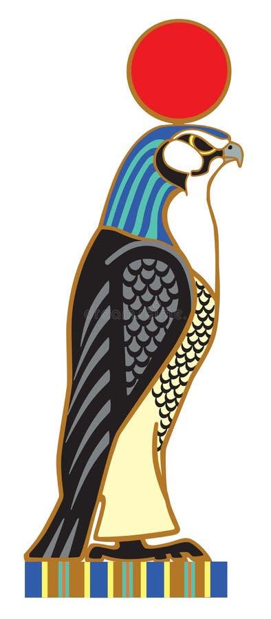 Egyptisk falkhorus royaltyfri illustrationer