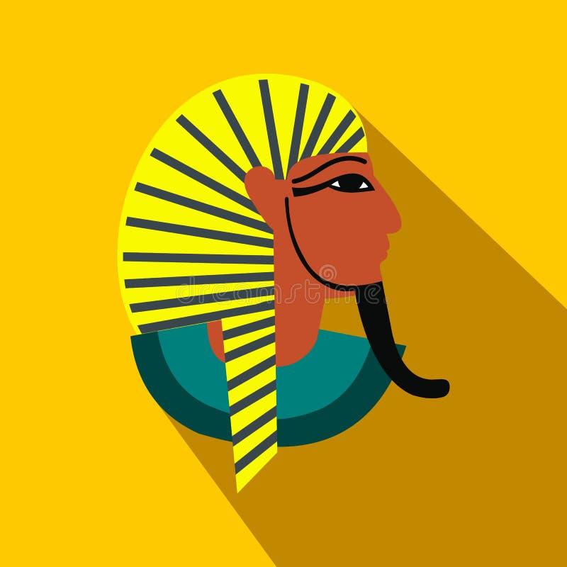 Egyptisk faraosymbol, lägenhetstil royaltyfri illustrationer