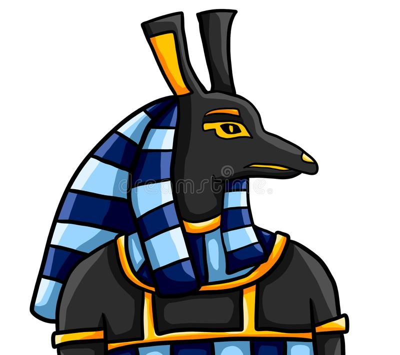 Egyptisk gud Seth stock illustrationer