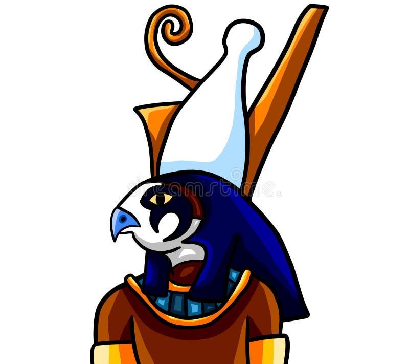 egyptisk gudhorus vektor illustrationer