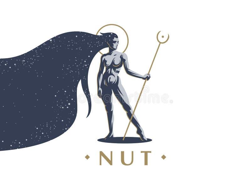 Egyptisk gudinnamutter royaltyfri illustrationer