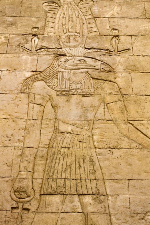 Egyptisk hieroglyfer fotografering för bildbyråer