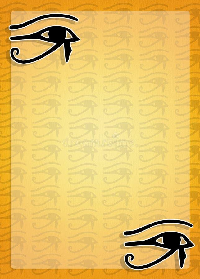 Egyptisk hieroglyfer vektor illustrationer