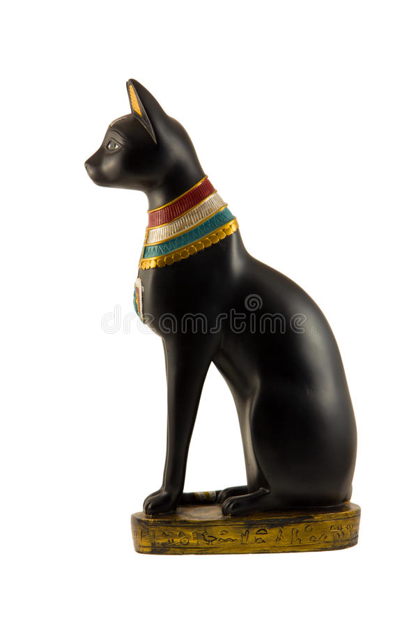 Egyptisk kattstaty royaltyfri foto
