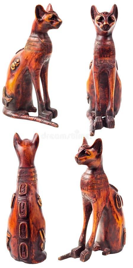 Egyptisk kattstaty royaltyfria foton