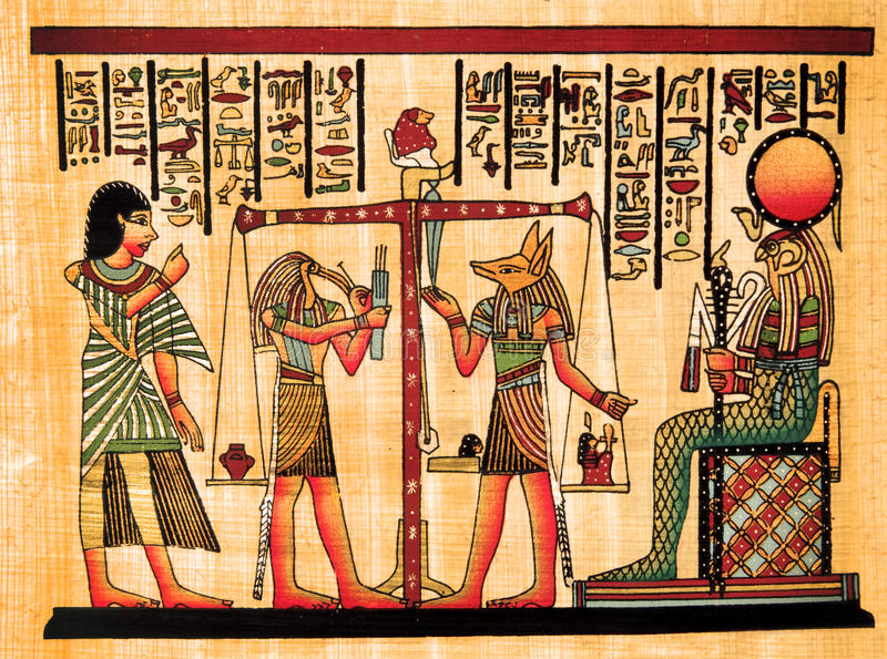 egyptisk papyrus royaltyfria foton