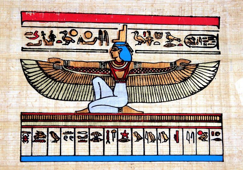 egyptisk papyrus arkivbild