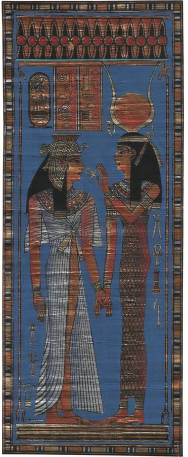 Egyptisk papyrus arkivfoton