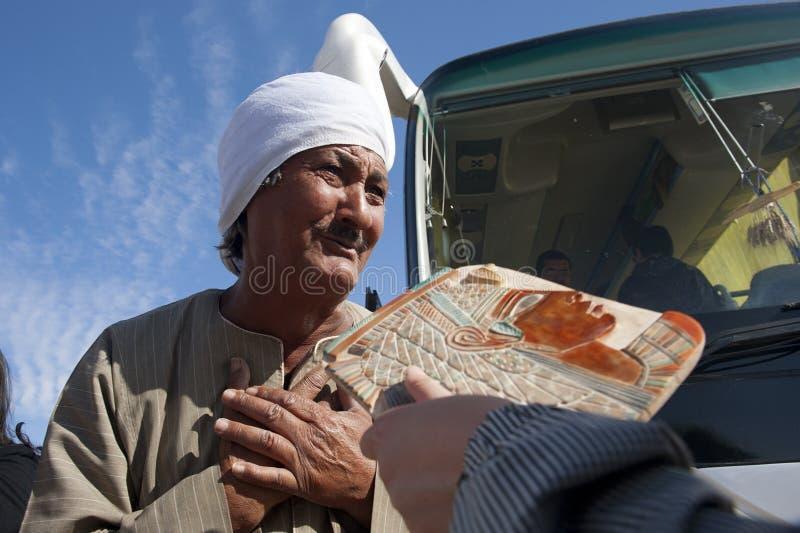 Egyptisk peddler arkivbilder