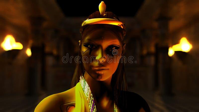 egyptisk princess vektor illustrationer