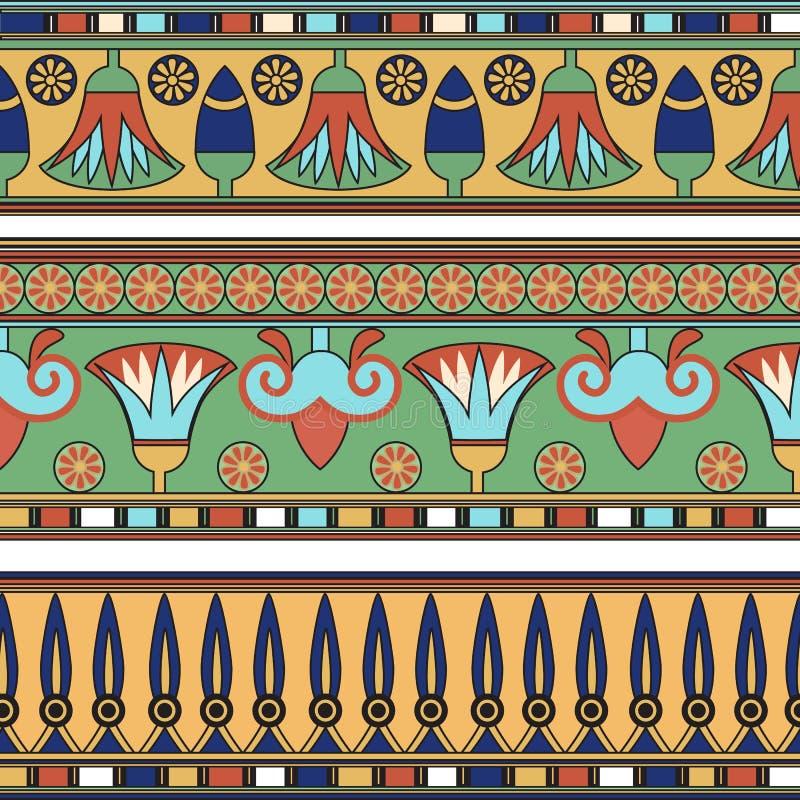 egyptisk prydnad Ð-¡ ollection royaltyfri illustrationer