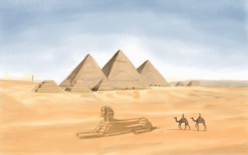 egyptisk pyramid arkivfoton