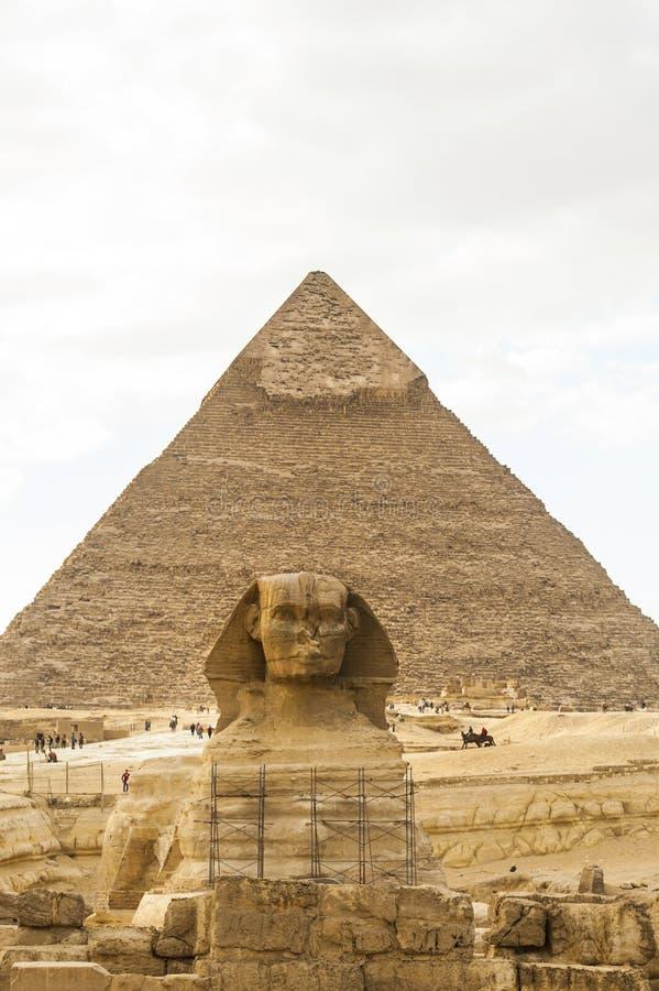 egyptisk pyramidsphinx arkivfoto