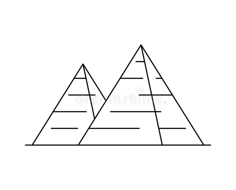 Egyptisk pyramidsymbol vektor illustrationer