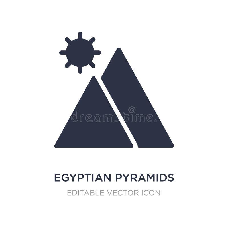 egyptisk pyramidsymbol på vit bakgrund Enkel beståndsdelillustration från loppbegrepp royaltyfri illustrationer