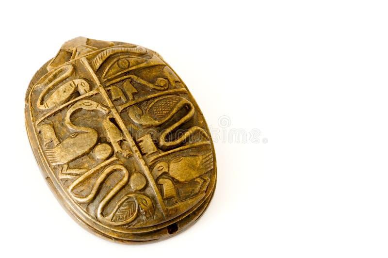egyptisk scarab arkivfoton
