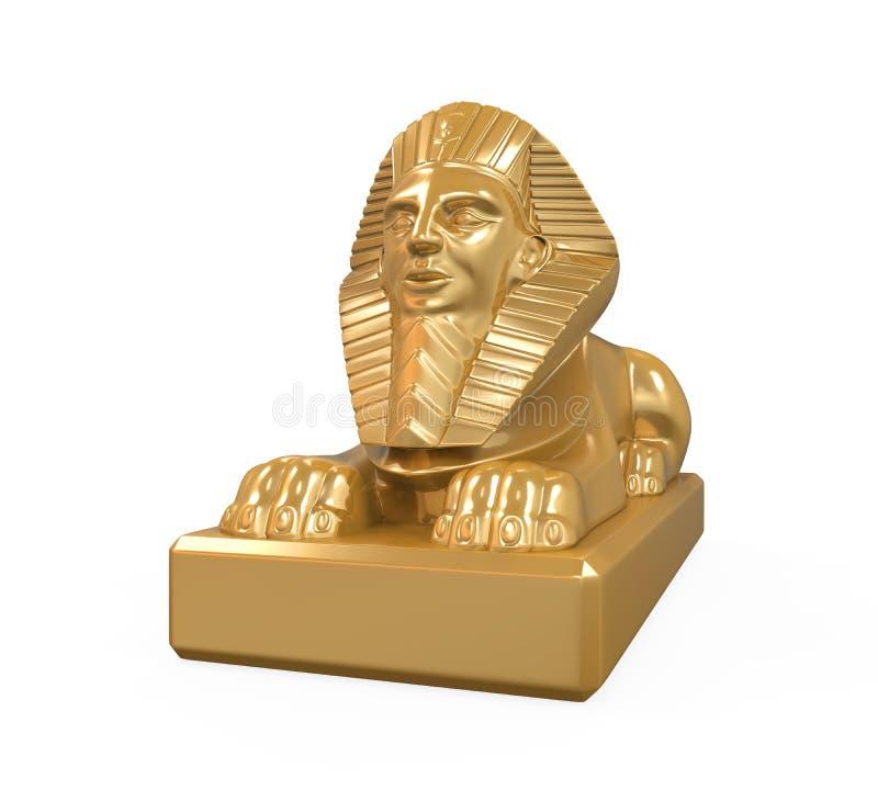Egyptisk sfinxstaty royaltyfria bilder