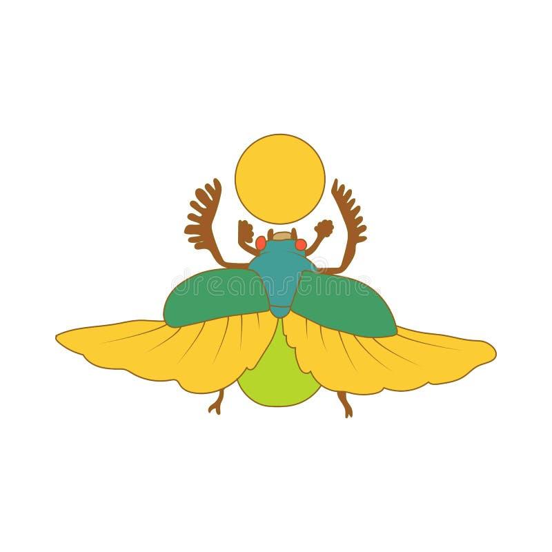 Egyptisk skarabé ett symbol av solsymbolen vektor illustrationer