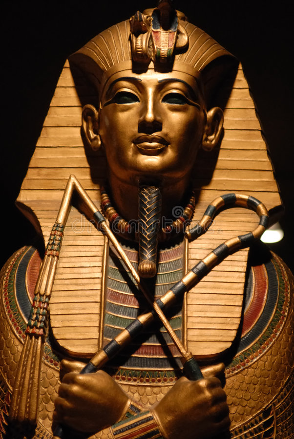 egyptisk staty arkivfoton