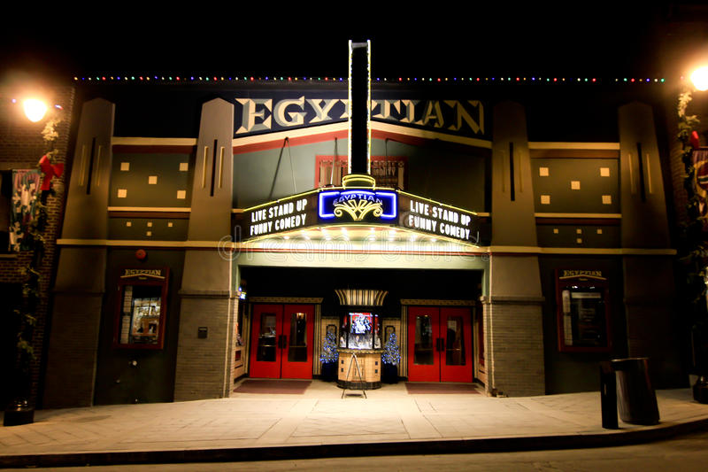 Egyptisk teater Park City, Utah arkivfoto