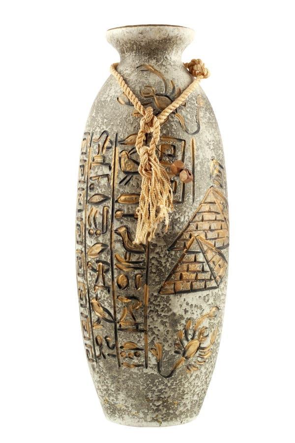 egyptisk vase arkivfoto