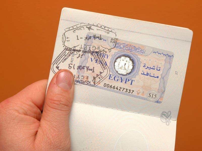 egyptisk visa royaltyfri fotografi