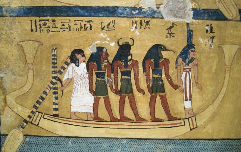 egyptisk wallpainting 2 royaltyfri fotografi
