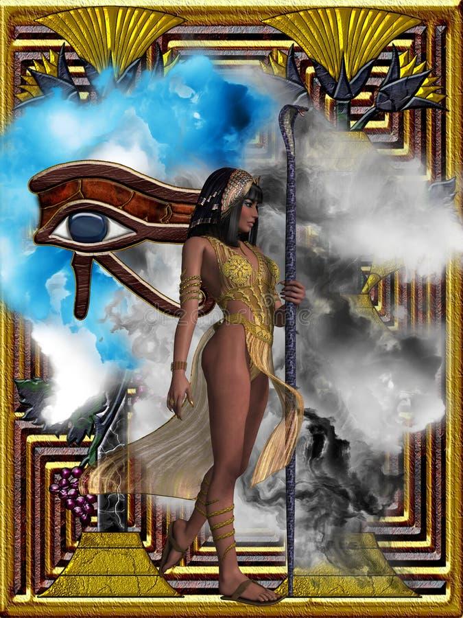 Egyptiska ekon av Tid vektor illustrationer