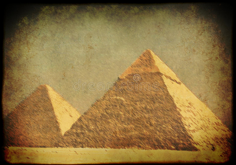 egyptiska grungepyramider för bakgrund