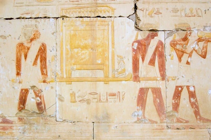egyptiska guld- präster för forntida ark royaltyfri fotografi