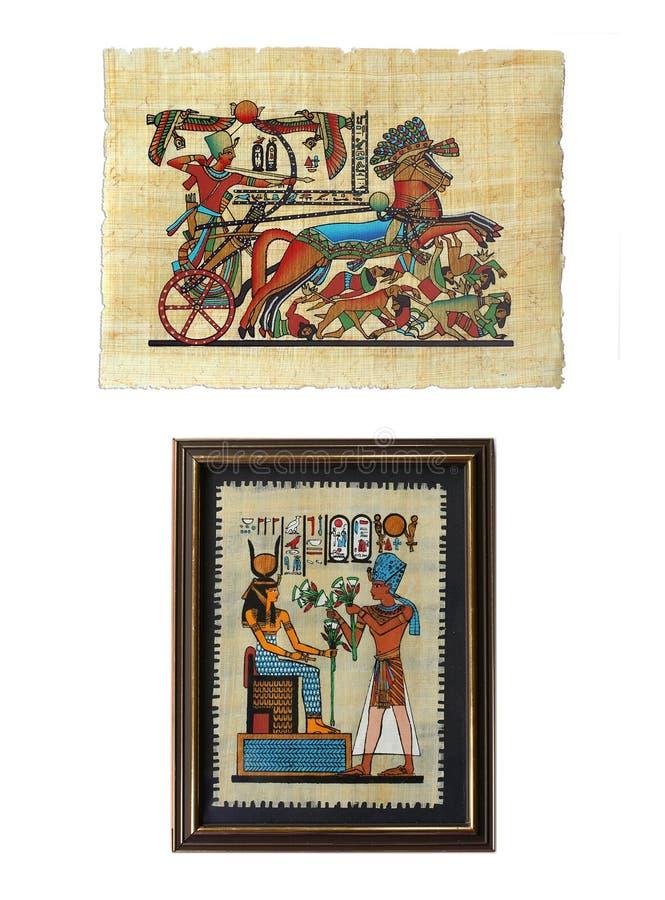 egyptiska papyruses royaltyfri fotografi
